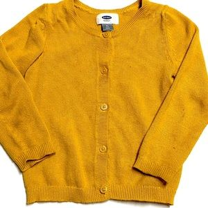 Old Navy Mustard Button Sweater Cardigan 4T